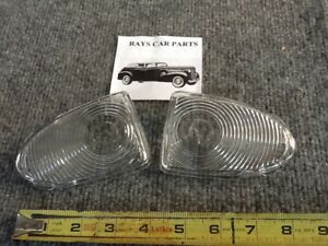 New Pair Of Replacement 1951 51 Chevrolet Front Park Light Lens Covers