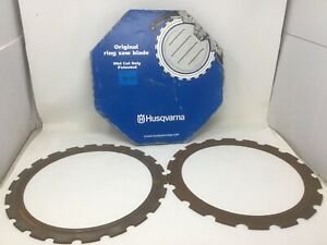 Lot Of 2 Husqvarna 531108059 Elr20 14in Diamond Ring Saw Blade Used Free Ship
