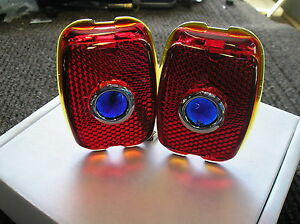 New Pair Of Replacement Blue Dot Lens For The 1937 1938 Chevrolet