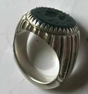 Antique Authentic Sasanian Dynasty Solid Silver Ring Persian 100 Guarantee