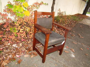 Superb Antique Early Gustav Stickley Paddle Armchair Inv2602