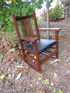 Antique Nice L Jg Stickley Spindle Arm Rocking Chair Inv3139 Free Shipping