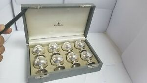 Rare Georg Jensen Sterling Silver Cordial Cups By Gorham Sterling Original Box