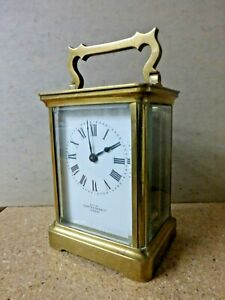Antique Small Victorian Carriage Clock Mappin Webb By R Co