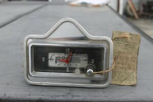 1953 Dodge Nos Dash Clock Borg Nice