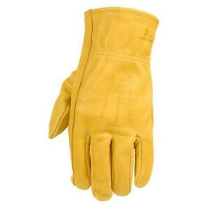 Wells Lamont Work Gloves Premium Cowhide Leather Yellow Durable Comfortable