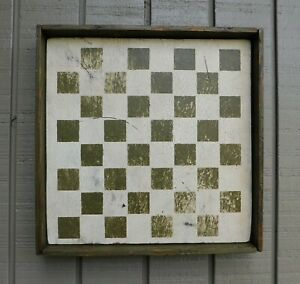 Primitive Rustic Framed Checkerboard Available In Several Colors