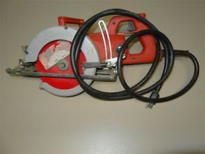 Vintage 1970s Milwaukee 6377 15 Amp Heavy Duty Worm Drive 7 1 4 Circular Saw