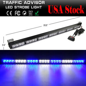 28 Led Emergency Warning Strobe Light Bar Work Offroad Car Parts Accessories