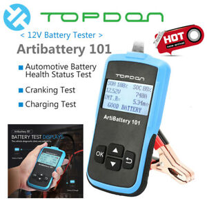 Battery Tester Automotive Digital 12v Car Battery Load Test Analyzer Diagnostic