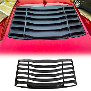 Fits 2016 2019 Chevy Camaro Rear Window Windshield Louvers Cover Sun Shade Abs