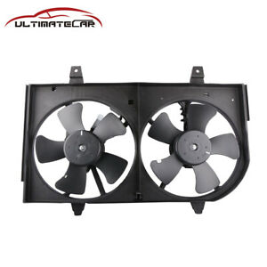 Front Radiator Dual Cooling Fan motor Assembly For 2000 2001 Nissan Maxima 3 0l