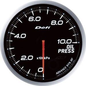 New Defi Df10201 Defi link Advance Bf White Oil Pressure Gauge 60mm From Japan