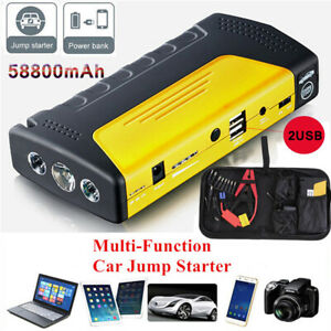 Car Jump Starter Engine Booster Emergency Usb Charger Battery Powe