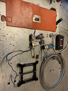 Nitrous Plate Kit 4150 Solenoids Bottle Heater Msd Window Switch Ford Chevy Nos