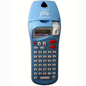 Dymo Letratag Label Maker Personal Electronic Portable Hand Held Metalic Blue