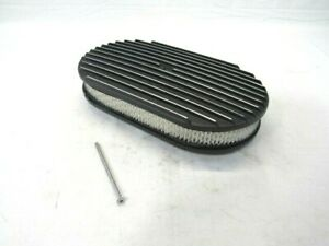 15 Oval Full Finned Air Cleaner W Element Black Bpe 1104b