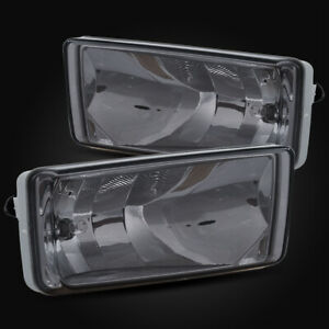 For 07 13 Silverado Rectangular Smoke Fog Lights Bumper Driving Lamp Replacement