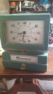 Acroprint Time Clock With Key Time Recorder