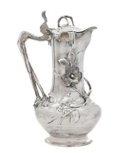Wmf Art Nouveau Silver Plated Water Pitcher 1905