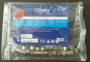 Argeloy Dental Lab Non precious Casting Alloy 2 Pack