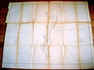 1858 New Mexico Map Sketch Of The Public Surveys Indian Nations