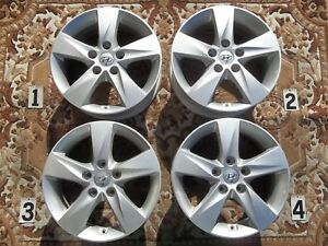 2011 2013 Hyundai Elantra 16 Wheels Stock Oem Factory Rims Silver 52910 3x250