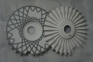 Rs16 Turbo Fans White Centerbore 58 Bremsenl fter Turbol fter L fterr A Set
