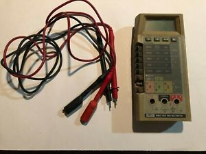 Fluke 8060a True Rms Digital Multimeter Used With Fluke Leads And Case