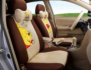 18pcs New Universal 1set Cartoon Car Seat Cover Four Seasons Style Seat Covers