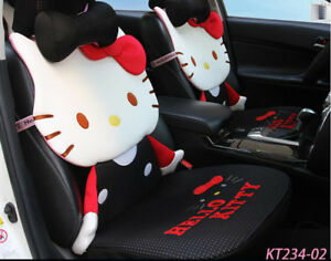 New Car Cushion Cartoon Car Seat Cover Girl Universal Seat Covers Black Kt234 2