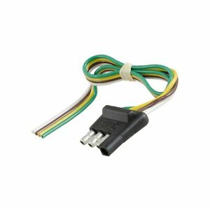 Curt 58030 Trailer Side 4 Way Trailer Wiring Harness With 12 Inch Wires 4 Pi