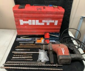 Hilti Te 15 Rotary Hammer Drill Assorted Bits Hard Case Pre owned