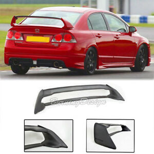 For 06 11 Honda Civic Sedan Mugen Rr Rear Trunk Wing Spoiler Abs Plastic Fd2 Fa2