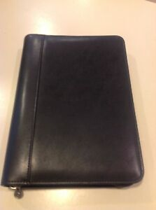 Franklin Covey Binder Zip Around Blk Classic 365 Organizer Planner 7 Rings 1 25