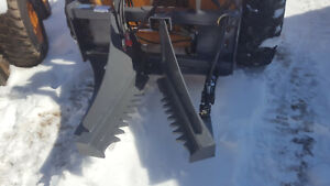 Budd Tree Puller W quick Attach Plate For Skid Steer Loader Post