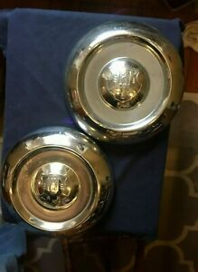 Two 1950 53 Oldsmobile Dog Dish Hubcap Wheel Covers 8