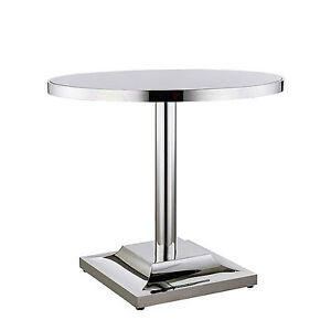 Large Stainless Steel Table Restaurant Patio Bar Bistro Pub 35 5 d X 29 5 h