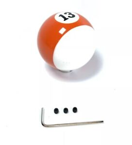 Pool Ball Gear Shift Knob Stripes Orange Number 13