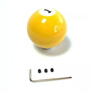 Pool Ball Gear Shift Knob Solids Yellow Number 1