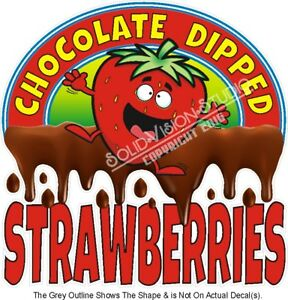 Chocolate Dipped Strawberries Food Ad Concession Truck Vinyl Sticker Menu Decal