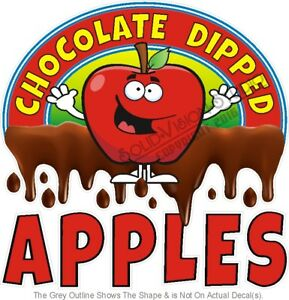 Chocolate Dipped Apples Food Advertisement Concession Truck Vinyl Sticker Decal