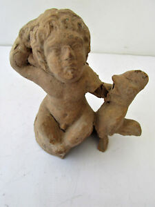 Ancient Greece Terracotta Statue Fragment Hellenistic Very Rare