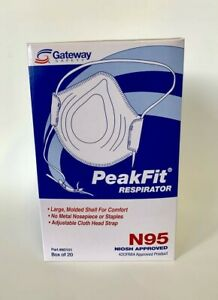 case Of 12 Boxes 240 Masks Gateway Safety N95 Particulate Respirator S80101