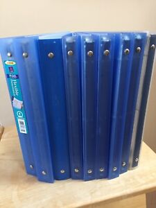 Lot Of 9 Avery Flexible Round Ring Presentation Binders Assorted Blue