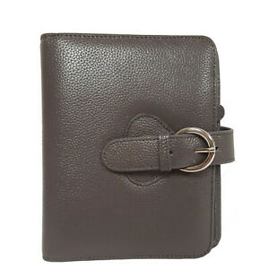 Nwt Franklin Covey Ava Leather Ring Planner binder Personal Grey Buckle Strap