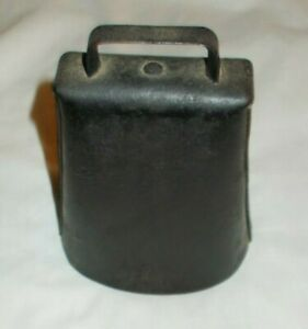 Antique Iron Cow Bell Primitive Blacksmith 6 Tall Hand Forged