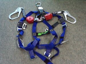 Miller Welder Harness W Twin Turbo Fall Limiter W D ring Connector Free Ship