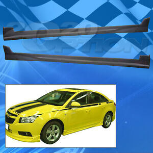 Type 1 Style Pu Side Skirts Body Kit Polyurethane For 11 12 Chevrolet Cruze