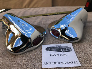 New Vintage Style Exhaust Tips With A Red Jewel Car Thuck Fits Ford Prefect